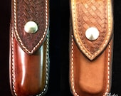 Custom Leather Closed Top Sheath for a Folding Knife