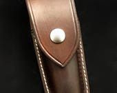 Closed Top Leather sheath for a Folding Knife