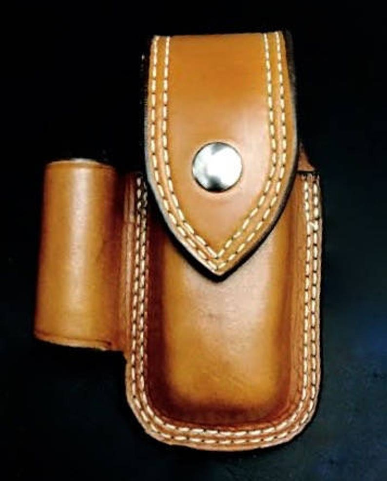 Nay's Custom Leather multi-tool case with a light loop image 0