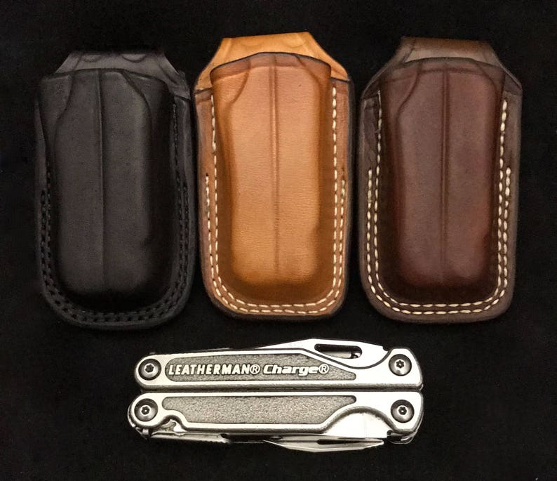 Nays Custom leather open top sheath for the Leatherman Charge image 0