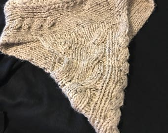 Hand knitted poncho on sale