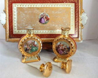 Vintage French Le MIeux Perfume Bottles with Vanity Tray