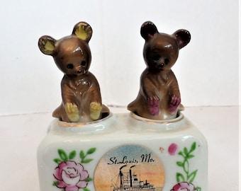 Vintage Unique Salt and Pepper Shakers