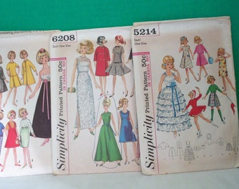 Simplicity Barbie Patterns # 5214, # 6244, #6208