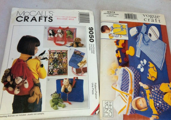 Craft Patterns McCalls 60 And Vogue 60 Etsy Amazing Mccalls Craft Patterns