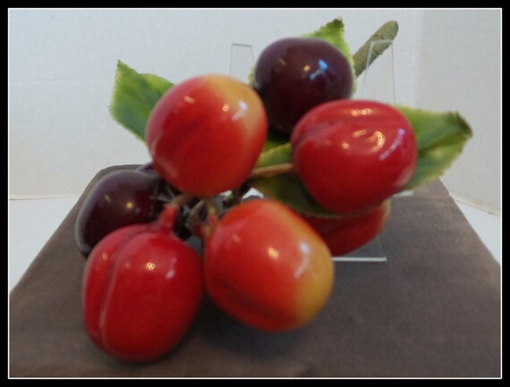 Brooch 1950s Cherries