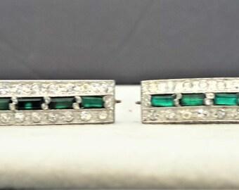Vintage Art Deco Period Fur Bar Clips