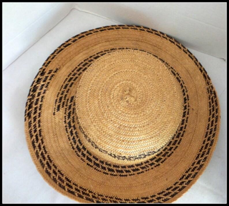 Vintage Straw Boater Hat