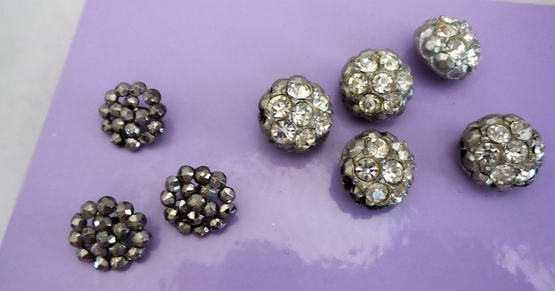 Vintage Rhinestone and Marcasite Buttons