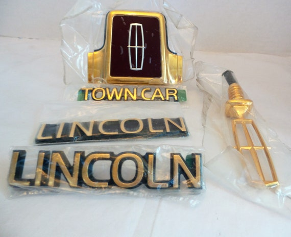 Lincoln Town Car 24 Kt Plated Trunk Lock Cover Hood Ornament Etsy