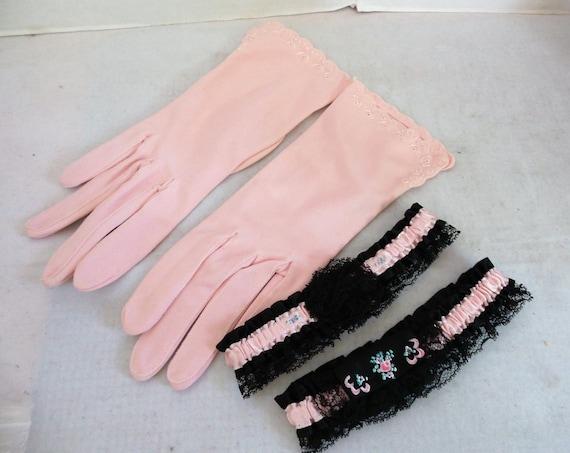 Vintage Ladies Gloves and Garters