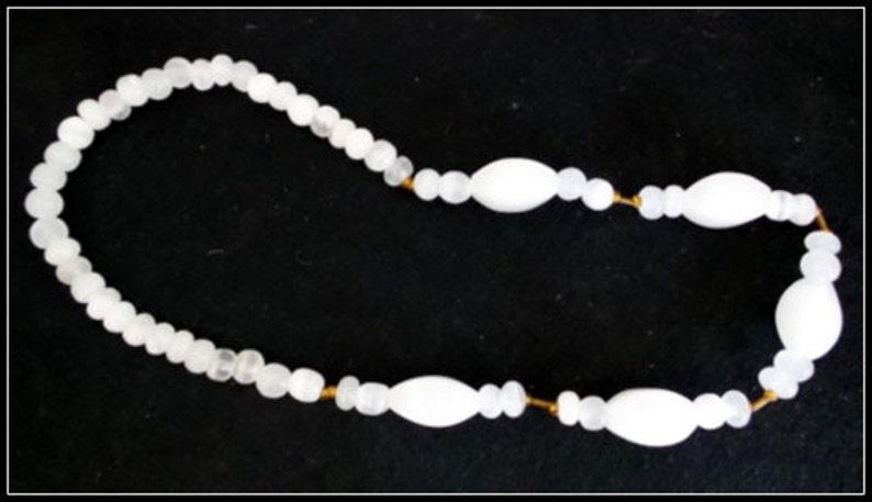 Vintage White Quartz Necklace