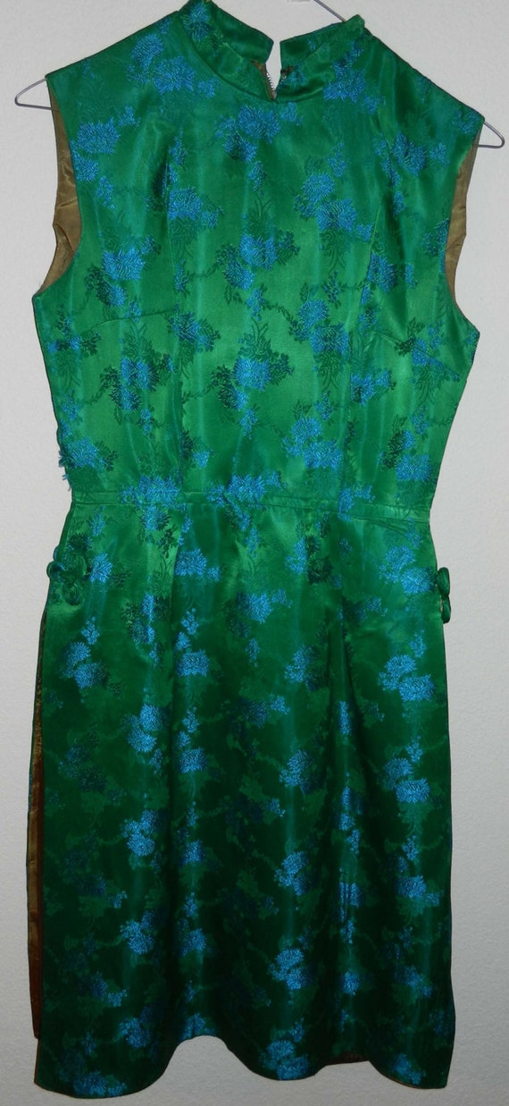 Asian Handsewn Green Dress