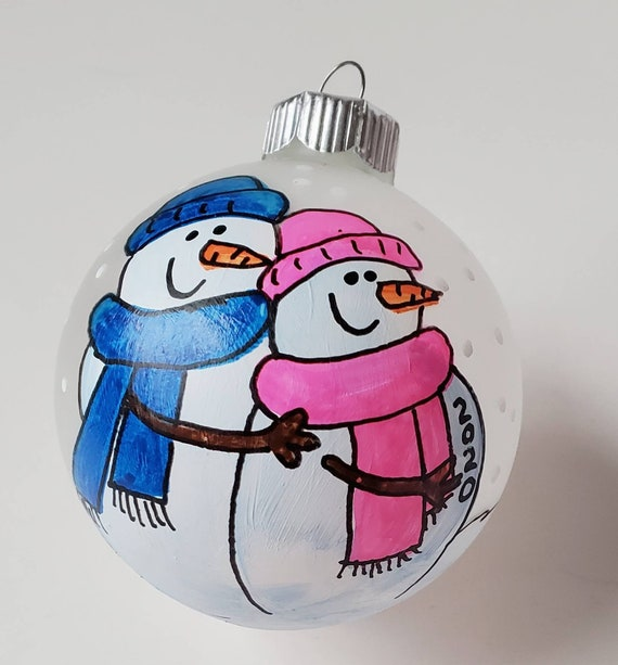 Expecting Pregnancy Hand-painted Personalized Christmas Ornament