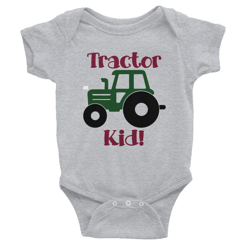604ccc50e58f Tractor Shirt for baby infant bodysuit for farm boy or farm