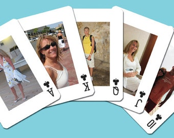 Personalized Playing Cards with Printed Tuck Box