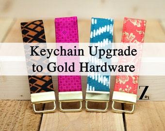 Keychain Upgrade to Gold Hardware