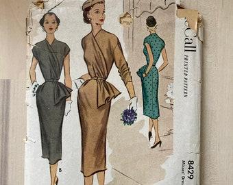 Vintage 1950s McCall 8429 Wiggle Dress Pattern