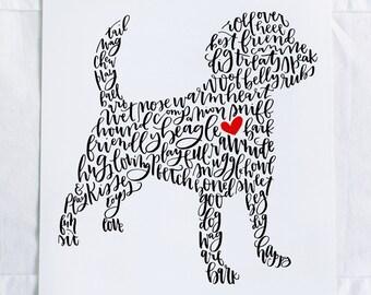 Beagle Illustration Print
