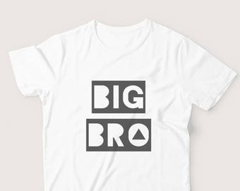 Big Brother Tshirt - Big Bro Shirt, Big Brother Announcement, Pregnancy Announcement, Sibling Gift, Brother Gift, Boys Clothing, Shower Gift