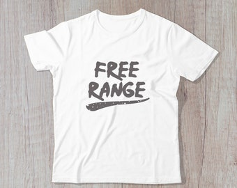 Free Range - Cute Kid's Tshirt, Unisex Kids Shirt, Graphic Shirt, Toddler T-Shirt, Girls Boys Clothing, Birthday Gift, Modern Kidswear