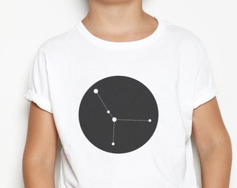 Personalised Kid's T-Shirt - Constellation Print Tshirt / Zodiac / Children's Star Sign Gift / Star Sign Shirt / Modern / Custom Kid's Gift