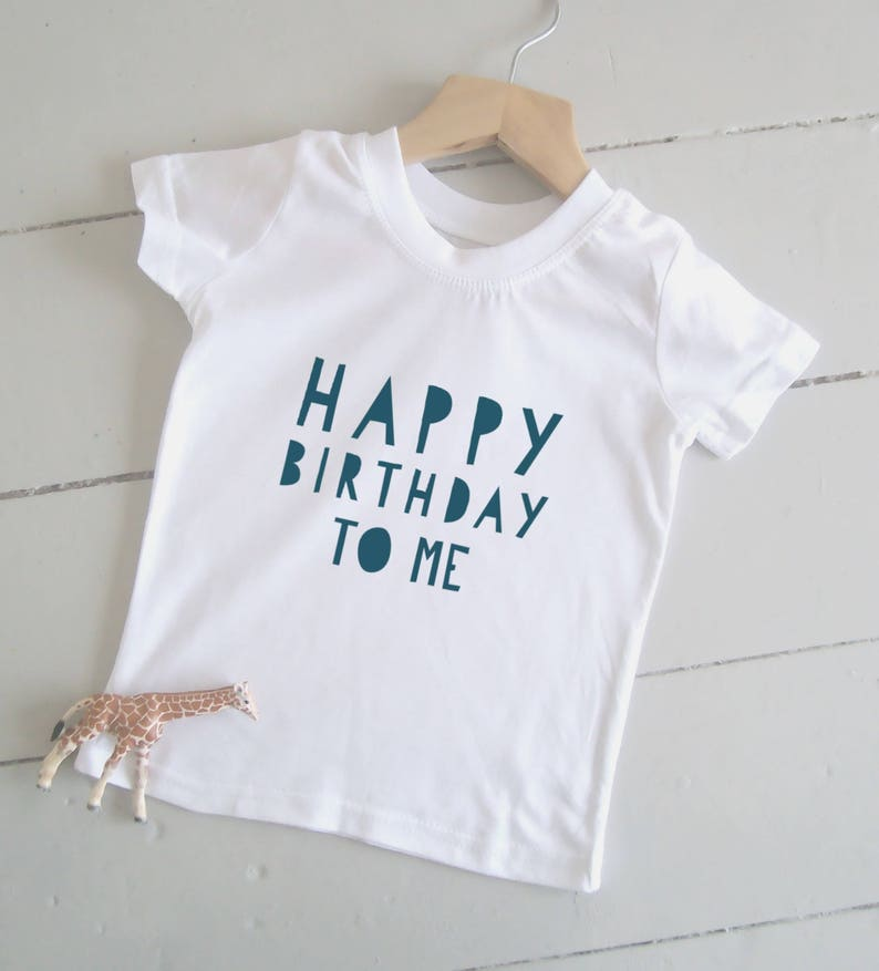 Happy Birthday To Me Kids Tshirt Boys Girls