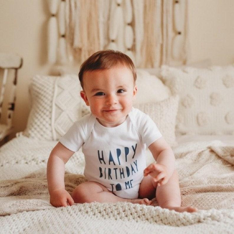 1st Birthday Baby Vest Happy Birthday To Me Boys Girls Cute image 0