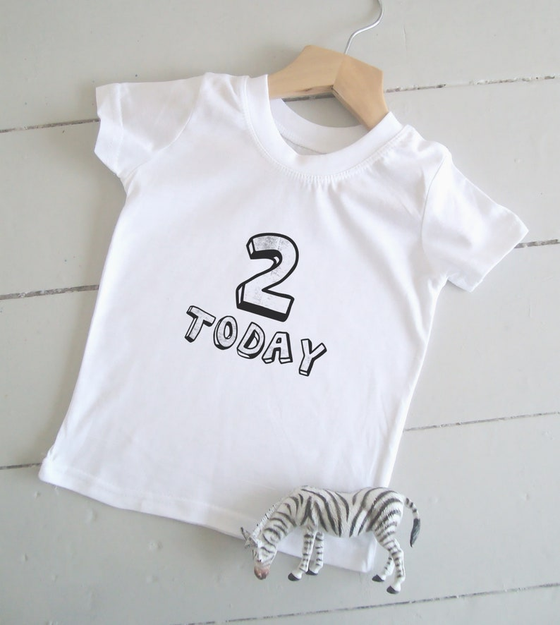 2 Today Tshirt 2nd Birthday Shirt Age Two Toddler Birthday image 0