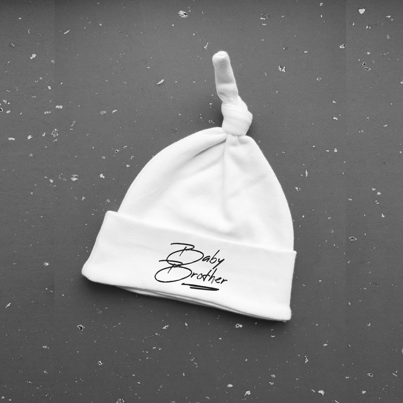Cute Baby Brother Gift Cotton Knotted Hat New Baby Clothing image 0