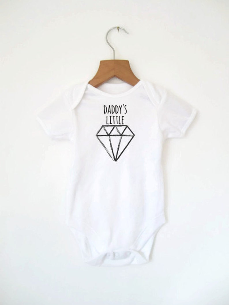 Daddy's Little Diamond Baby Bodysuit Father's Day image 0
