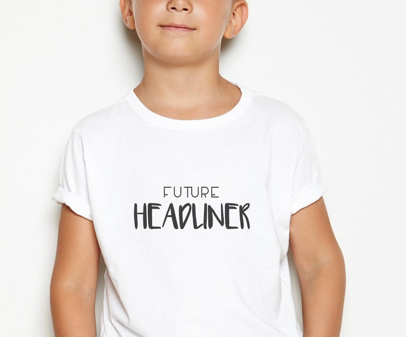 Future Headliner  Kid's Festival Tshirt Festival Outfit image 0