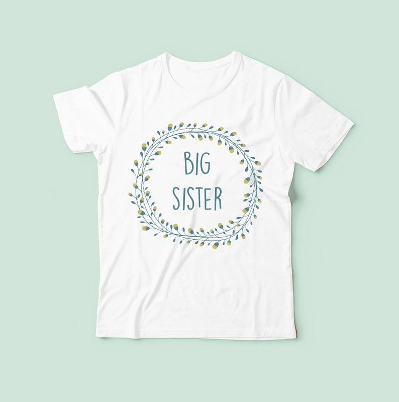 Big Sister Tshirt Sister Shirt Pregnancy Announcement image 0