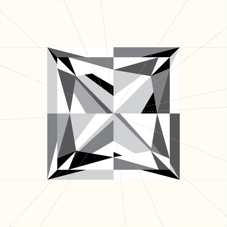Square Diamond Paper Piecing Pattern Princess Cut
