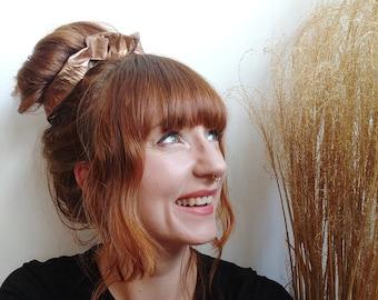 Scrunchie Copper Shimmer Hairtie Influencer