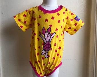 f0a2695ac Vintage Disney Store Winnie The Pooh Bodysuit Piglet Sz 12/18M