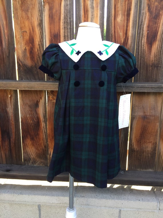 Rare Editions Christmas Toddler.Rare Editions Toddler Dress Holiday Christmas Sz 3t Green Plaid