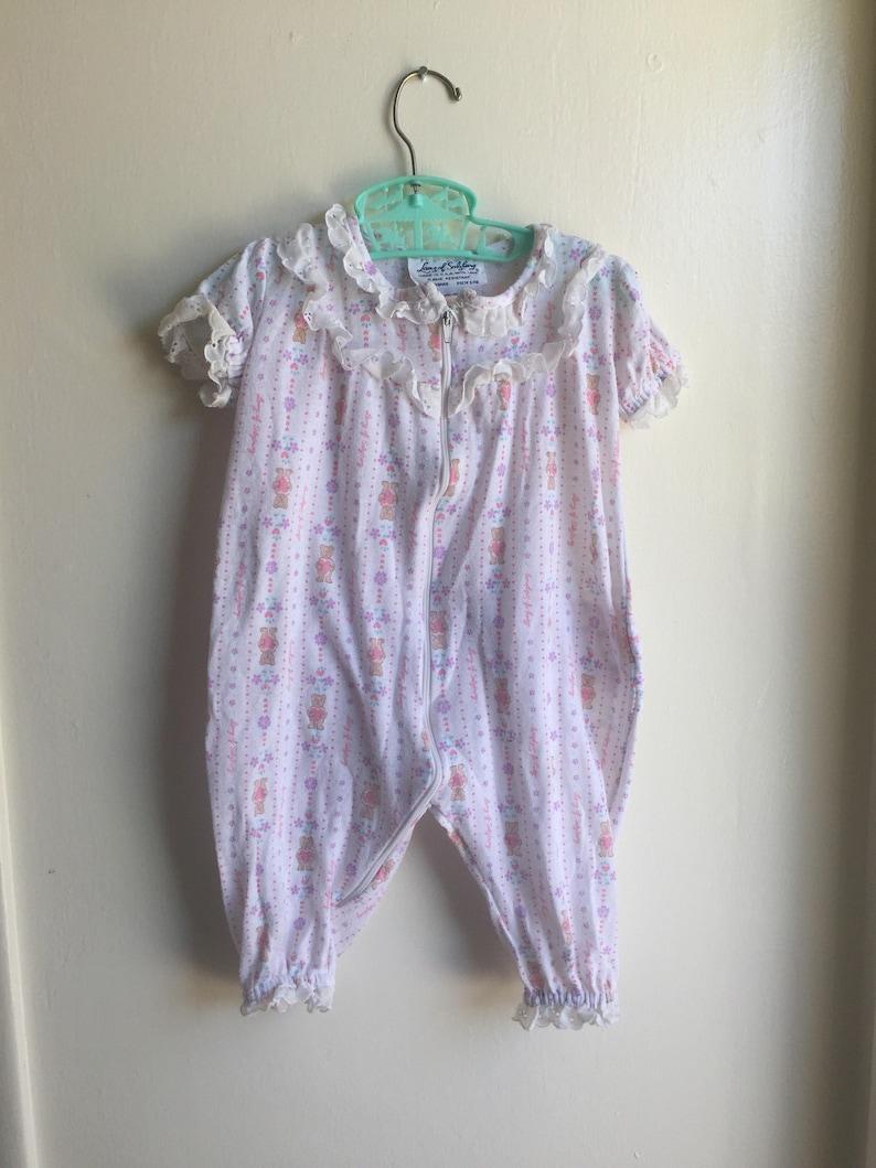 8c7840749 VTG Lanz Of Salzburg Baby Girl Sleeper Sz XL 6-12M Pink Purple