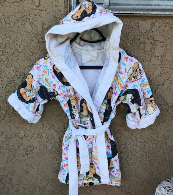 Vintage Disney Pocahontas Robe Terry Cloth Sz 4/5