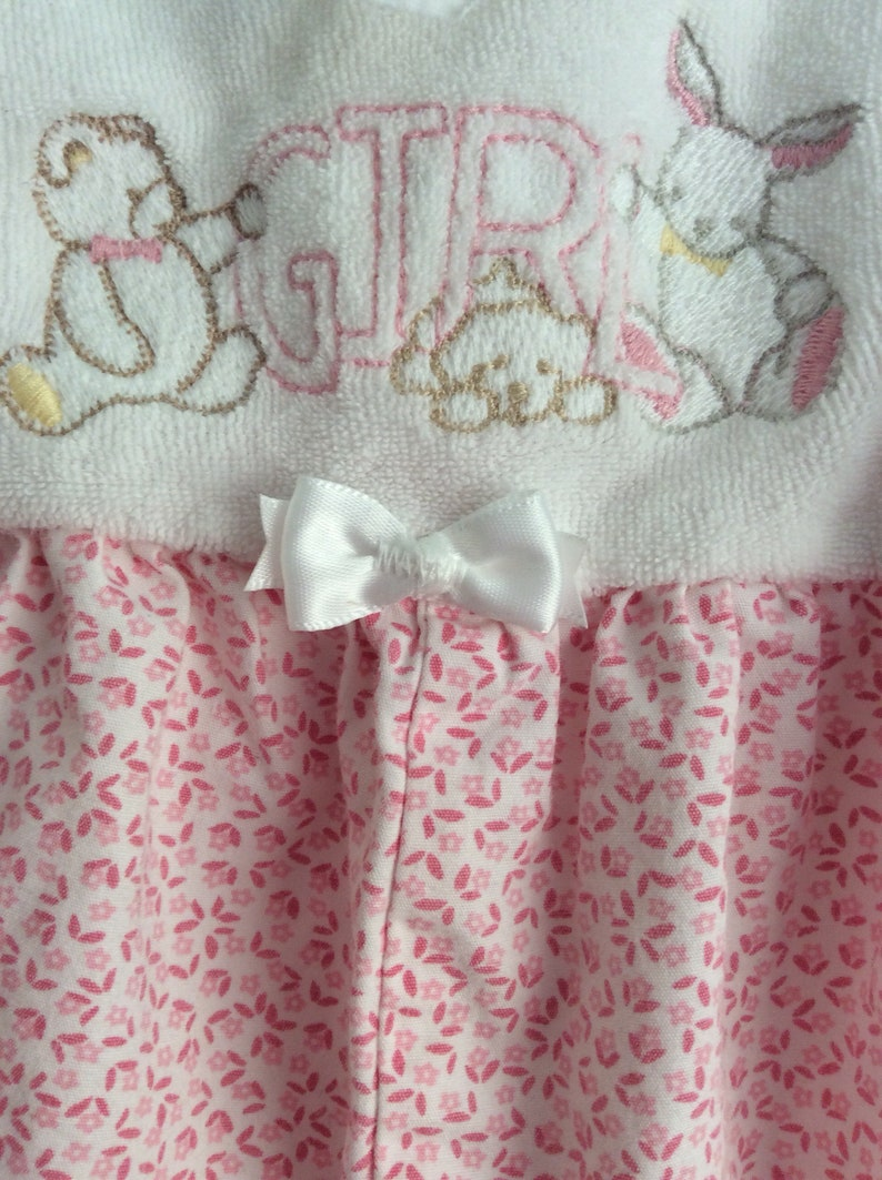 Vintage Carters GIRL Romper White Pink Sz 3-6M