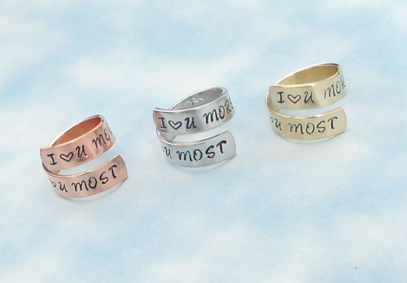 Gift Under 20 I love you more I love you most Girlfriend Gift Mother/'s Day Love Quote Mom and Daughter Gift Wife Gift Valentin/'s Day
