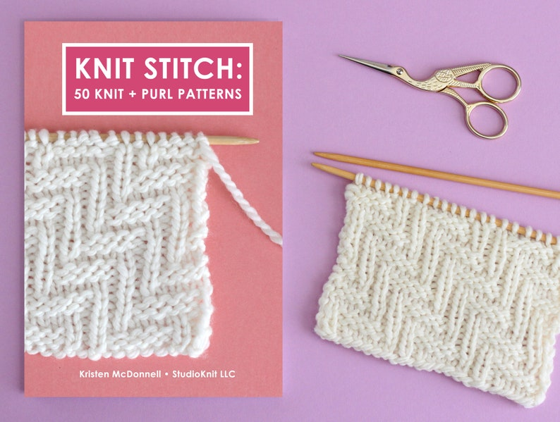 Knit Stitch Book: 50 Knit  Purl Patterns by YouTuber Studio image 0