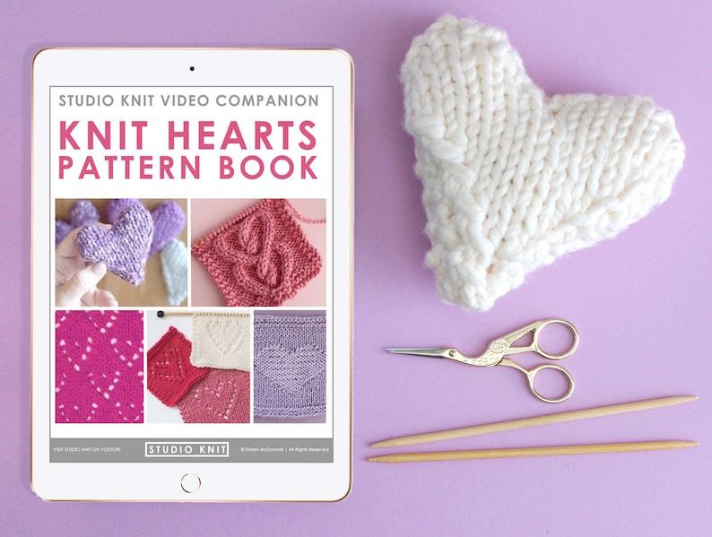 Knit Hearts Pattern Book  6 Designs  PDF Download image 0