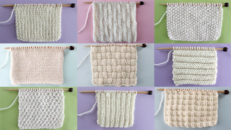 Knit Stitch Pattern Book For Beginning Knitters By Etsy