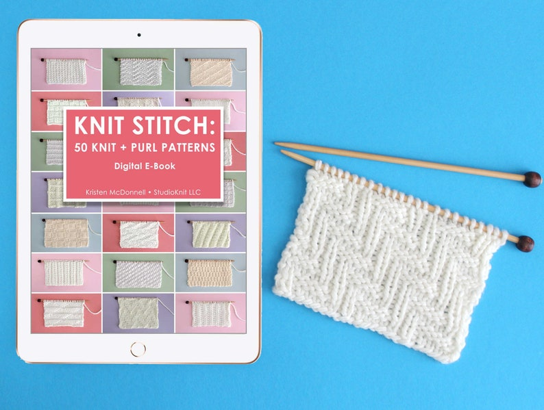 Knit Stitch Pattern E-Book for Beginning Knitters by image 0