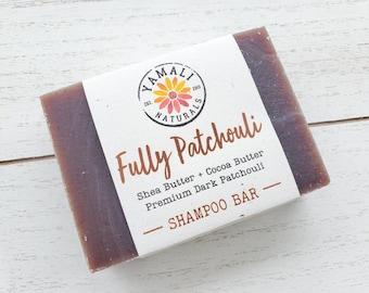 FULLY PATCHOULI | Patchouli Only Shampoo Bar | Cocoa Shea Shampoo Bar, Conditioning Shampoo, Hippie Shampoo | Zero Waste, SLS Free, Vegan