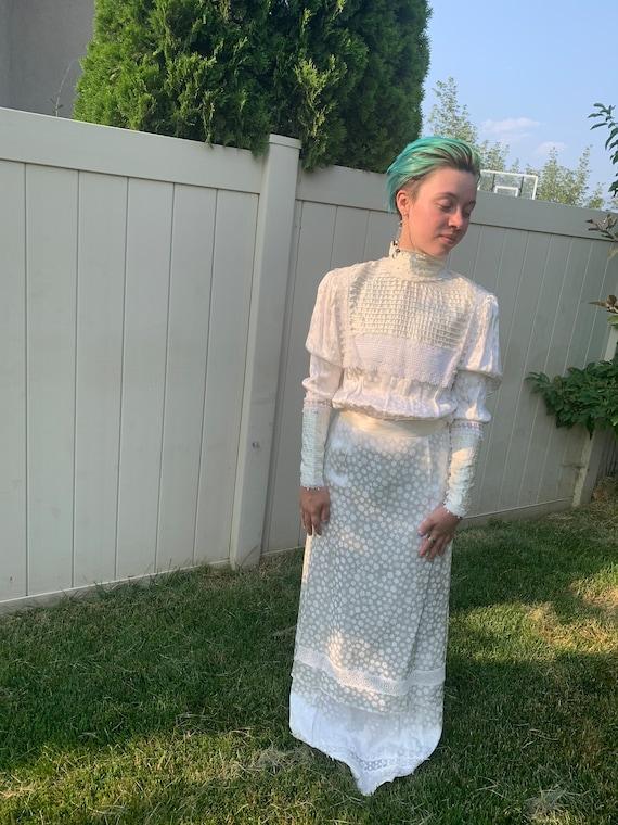 Vintage 1980s Gunne Sax wedding dress - image 1