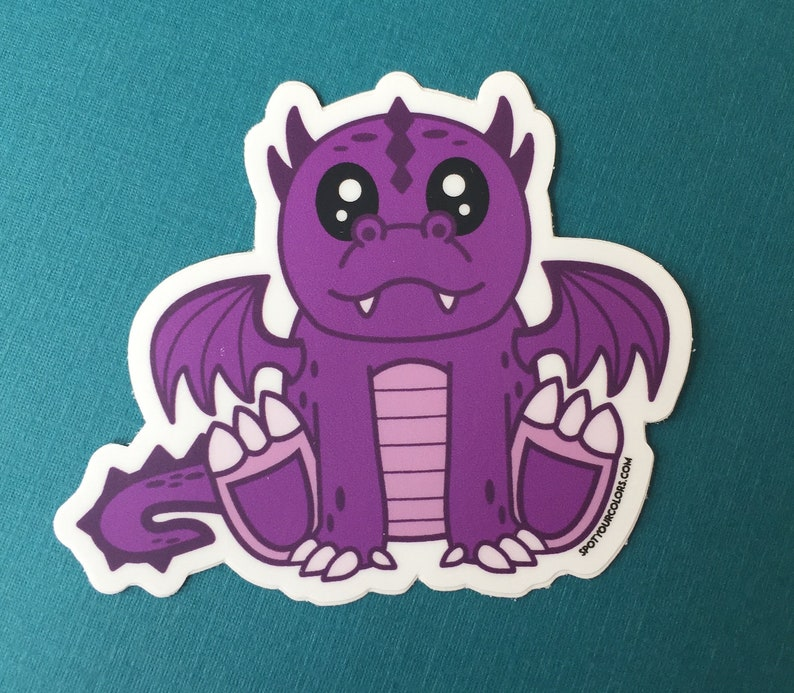 Purple Dragon Sticker 3 image 0