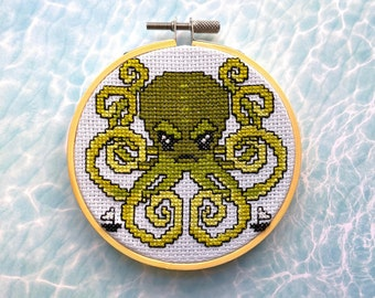 Kraken Cross Stitch DIY Kit