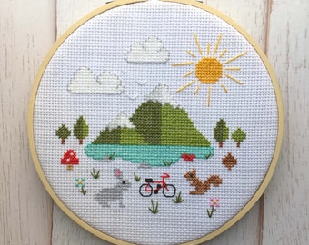Great Outdoors Counted Cross Stitch DIY KIT